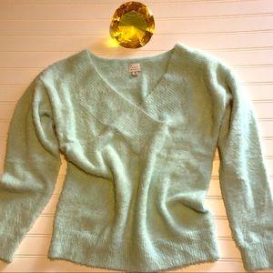 Mint, v neck sweater